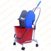 20L Single Mop Bucket Trolley