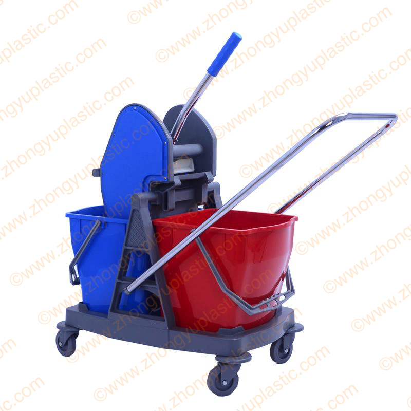 40L Double Mop Bucket Trolley with Wringer